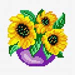 N·1243: Соняшники в синьому горщику