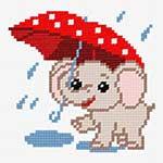N·1255: Слоненя із парасолем