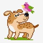 N·1294: Собака з пташкою