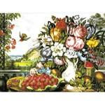 O·029: Натюрморт «Цветы и фрукты»
