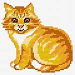 O·1105: Рудий кіт біля шпалер
