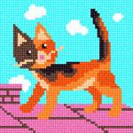 O·1216: Рижий кіт на даху