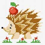 O·1220: Їжачок з яблуком (аплікація)