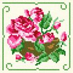 O·1242: Рожеві троянди в горшику