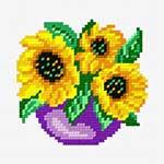 O·1243: Соняшники в синьому горщику