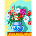 O·2413: Букет цветов в вазе (графика)