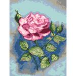 O·2432: Роза на синем фоне