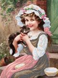 A528 Панна з котеням