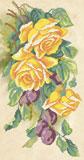 A568 Троянди та сливи