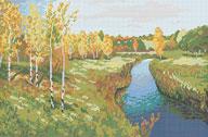A577 Пейзаж «Золота осінь», І. Лєвітан