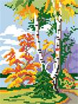 D06 Пейзаж «Березова осінь»