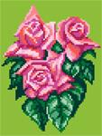 D09 Букет рожевих троянд