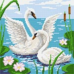 E37 Пара лебедів