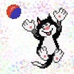 K114 Кіт з м'ячом