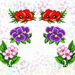 K225 Квіткова клумба (6 фраґментів)