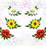 K237 Маки, ромашки, соняшники (6 фраґментів)