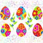 K247 Писанки з квітами (8 фраґментів)