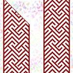 K261 * Червоний орнамент (2 фраґменти)