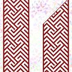 K263 * Червоний орнамент (5 фраґментів)