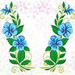 K278 Блакитні квіти (2 фраґменти)