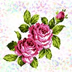 K296 Букет троянд (1 фраґмент)