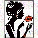 K321 Дівчина з маком (1 фраґмент)
