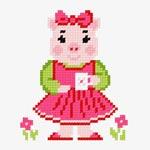 N1223 Поросятко в рожевій сукні
