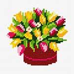 N1233 Тюльпани в червоному цебрі