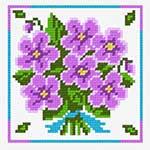 N1234 Букет фіолетових квітів