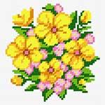 N1245 Букет жовтих квітів