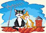 N1935 Коти на даху