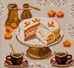 N2109 Торт, мандарини і кава