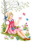 N3004 Дівчина з метеликами