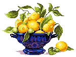 N3016 Ваза з лимонами
