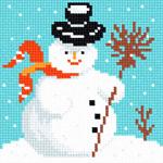 O1123 Сніговик в капелюсі