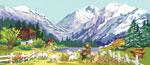 S27 Пейзаж «Сині гори»