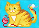 X2110 Рижий кіт з клубком