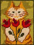 X2213 Кіт з тюльпанами