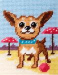 X2289 Собака на пляжі