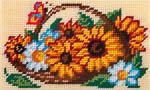 X2302 Соняшники і ромашки в кошику